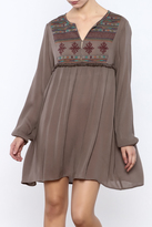 Umgee USA Embroidered Mocha Tunic