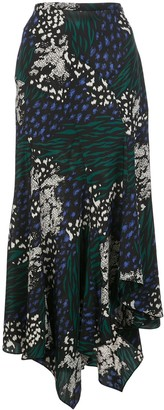 Veronica Beard Mac animal print skirt