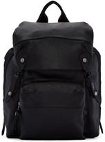 Lanvin Black Leather and Nylon Rucksack