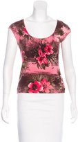Blumarine Embellished Printed Top