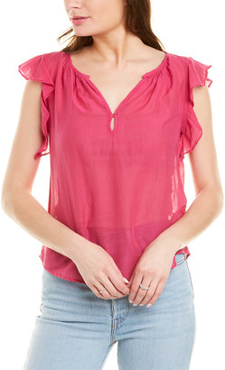 Velvet by Graham & Spencer Jayne Silk-Blend Top