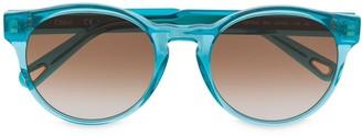 Chloé Eyewear Round-Frame Tinted Sunglasses