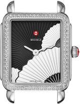 Michele Deco II Midsize Diamond Fan Watch Head, Black/White