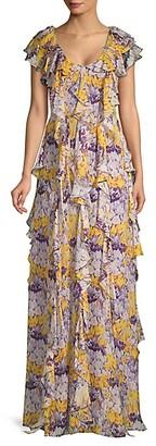 Flor Et. Al Valles Floral Ruffle Gown