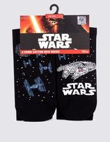 Marks and Spencer 2 Pairs of Cotton Rich Star WarsTM Socks