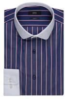 HUGO BOSS Contrast Easy Iron Cotton Dress Shirt, Slim Fit Joshy 16Blue