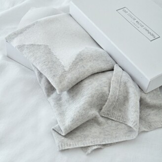 The White Company Cashmere Star Baby Blanket, Pale Grey Marl, One Size
