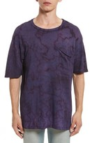 Drifter Men's Granite Tie Dye Linen Blend T-Shirt