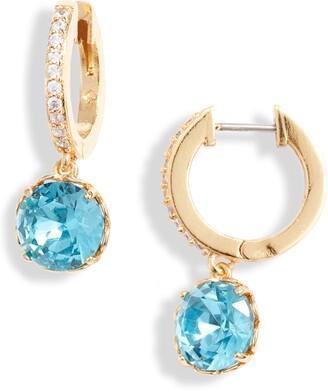 Kate Spade That Sparkle Pave Huggie Hoop Earrings