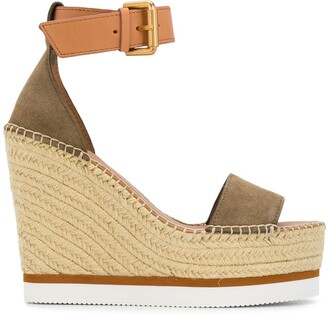 See by Chloe strappy espadrille wedge sandals