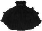 Co Ruffled Wool Capelet
