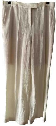 Nicole Farhi Ecru Linen Trousers for Women