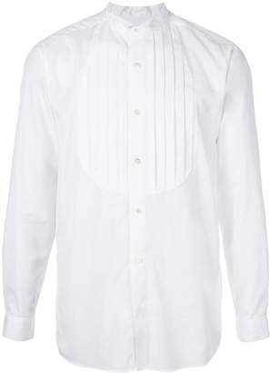 Education From Young Machines pintucked poplin shirt