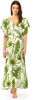 MC2 Saint Barth Tropical Leaves Print Long Dress #losangeles