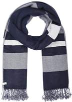 Levi's® Stripe Wrap Scarf Navy Blue