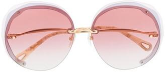 Chloé Oversized Frame Tinted Sunglasses