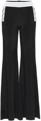 Balmain High-rise flared knit pants