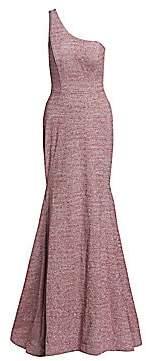 Jovani Women's One-Shoulder Glitter Mermaid Gown