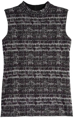 Misook Jacquard Knit Sleeveless Top