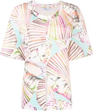 Blumarine tropical print T-shirt