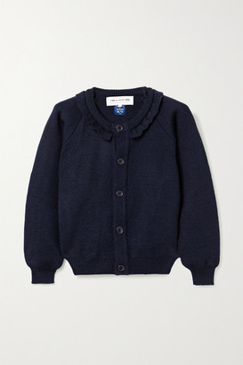 COMME DES GARÇONS GIRL Ruffled Knitted Cardigan - Navy
