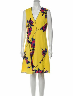 Proenza Schouler Silk Knee-Length Dress Yellow