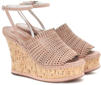 Alaã ̄A Suede wedge sandals