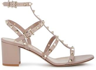 Valentino Garavani Rockstud 60 Blush Leather Sandals