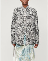 Selfridges Leo Abstract-print relaxed-fit cotton shirt