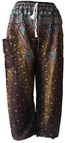 ASVP Shop® Womens Baggy Harem Pants - Made in Thailand from 100% Rayon - Ideal for Yoga, Dance, Festivals, Loungewear