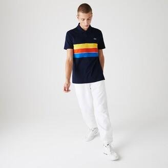 Lacoste Men's SPORT Tricolor Paneled Lightweight Cotton Polo Shirt
