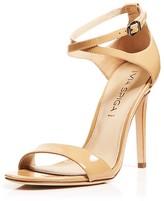 Via Spiga Tiara Patent High Heel Ankle Strap Sandals