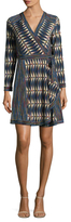 BCBGMAXAZRIA Geometric Self-Tie Dress