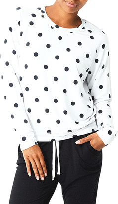 Stripe & Stare Polka Dot Sweatshirt