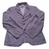 Dirk Bikkembergs Blue Cotton Jacket for Women