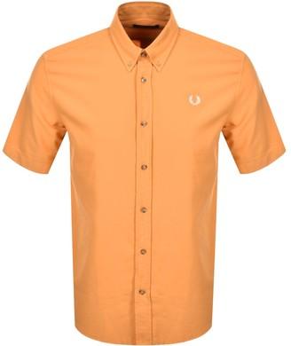 Fred Perry Overdyed Short Sleeve Shirt Orange