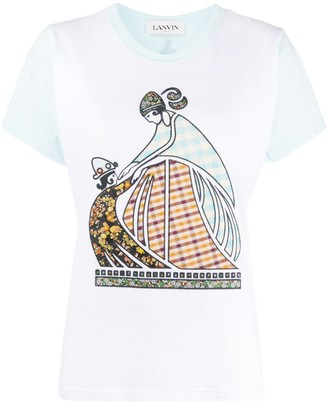 Lanvin Mother and Child patchwork T-shirt