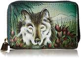Anuschka Anchka Handpainted Leather Credit AND Biness Card Holder - Credit Card Holder,One Size