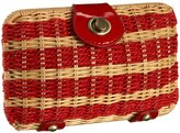Stripe Wicker Clutch