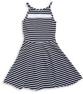 Sally Miller Girls 7-16 Textured Striped Dress