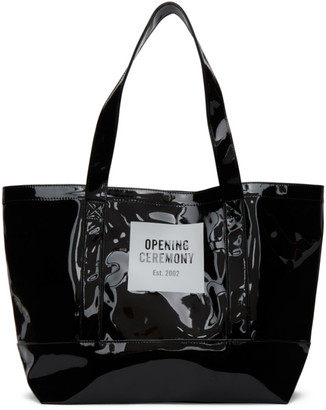 Opening Ceremony Black Medium Box Logo Tote