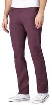 Red Herring Big And Tall Purple Slim Chino Trousers
