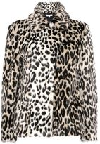 Stella McCartney leopard fur free fur dan coat