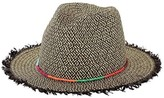 San Diego Hat Company Women's Ultrabraid Fedora with Beads/Raffia Edge UBF1014