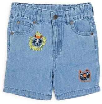 Stella McCartney Kids Cotton Wild Cats Shorts (3-36 Months)