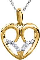 Jessica Simpson Diamond Accent Heart Pendant in 10k Yellow Gold