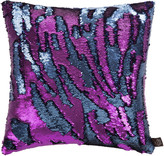 Aviva Stanoff Two Tone Mermaid Sequin Cushion - Purple Haze - 45x45cm