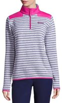 Vineyard Vines Striped Zip-Front Sweater
