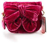 Juicy Couture Fuschia Pink Velvet Small Bow Flap Satchel Handbag New $98