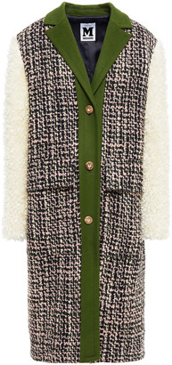M Missoni Faux Fur, Boucle-tweed And Wool-blend Felt Coat